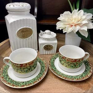American Atelier CHRISTMAS ORNAMENTS Cup & Saucer